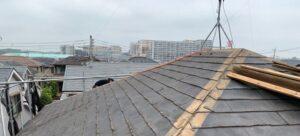 千葉県成田市 H様邸 屋根重ね葺き工事 外壁塗装 棟板金解体 ルーフィング貼り (2)